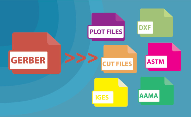 An illustration of files being converted